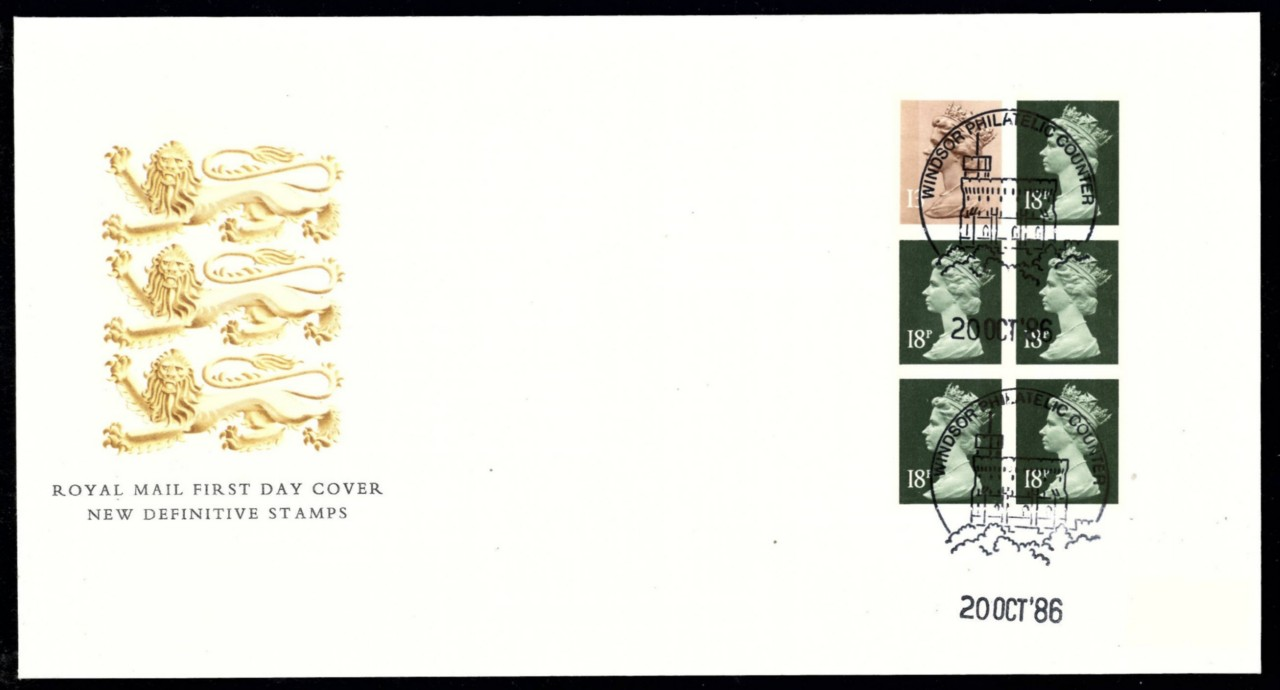 1986 GB - FDC - FH6 - Musical Instruments French Horn (Addressd)
